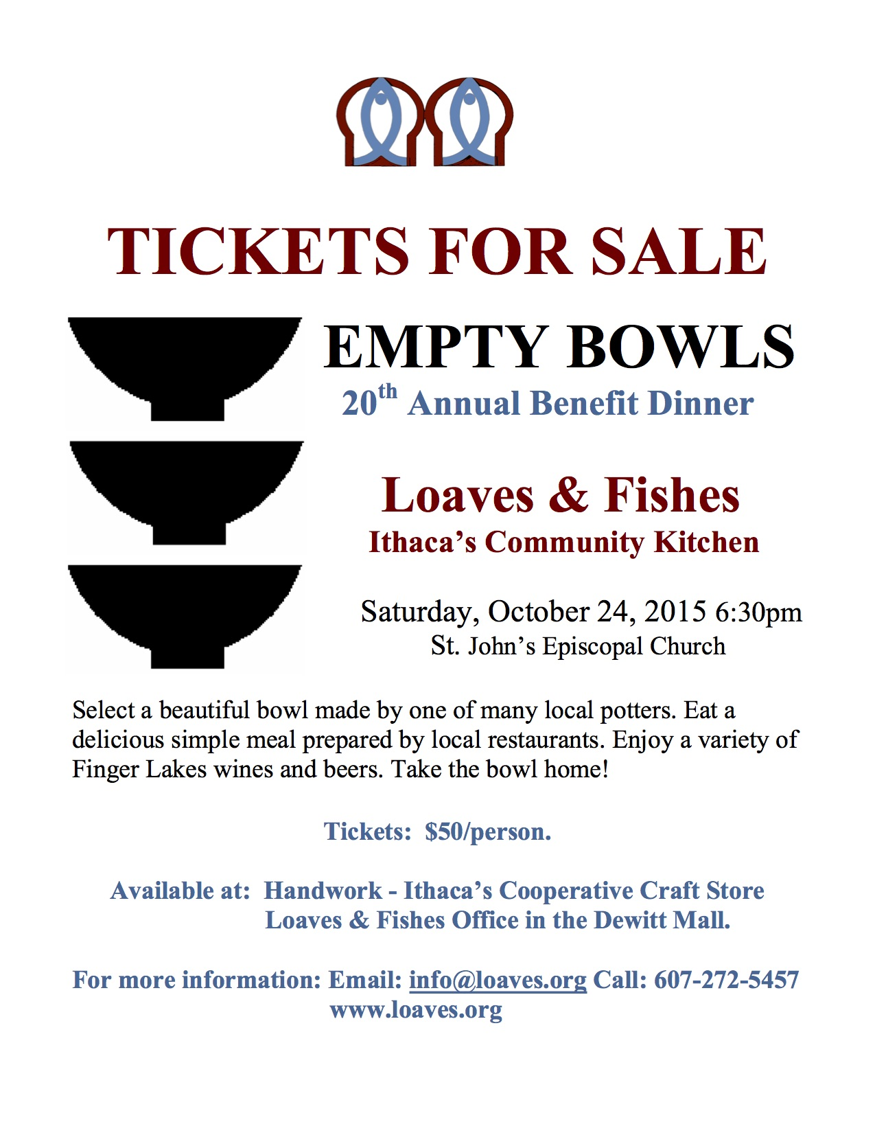 loaves fishes 20th annual empty bowls benefit dinner st mtbowls