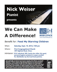 Nick Weiser We Can Make A Difference Poster